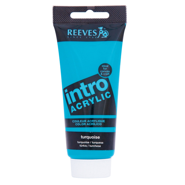 Reeves Intro Acrylic Tube 120ml Turquoise
