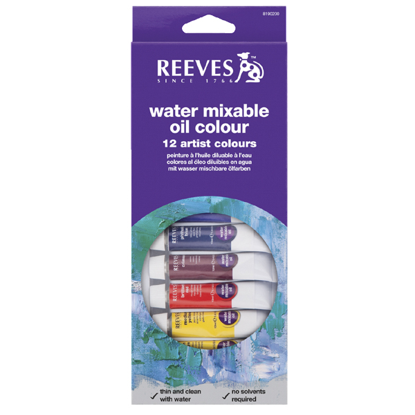 Reeves Water Mixable Oil Colour 12's x 10ml