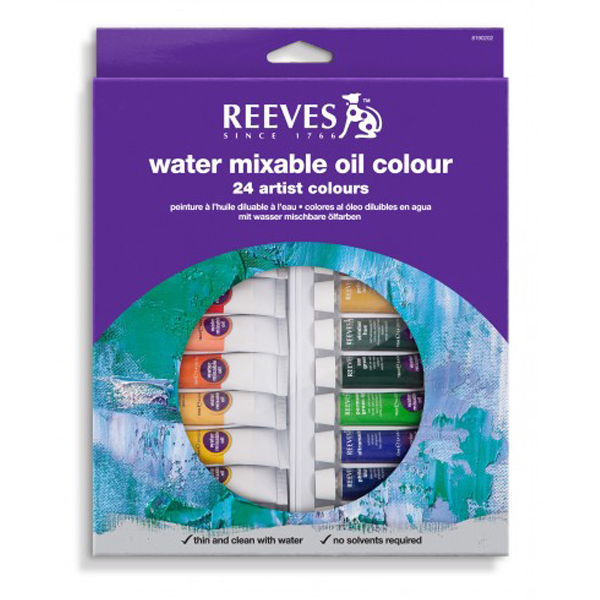 Reeves Water Mixable Oil Colour 24's x 10ml