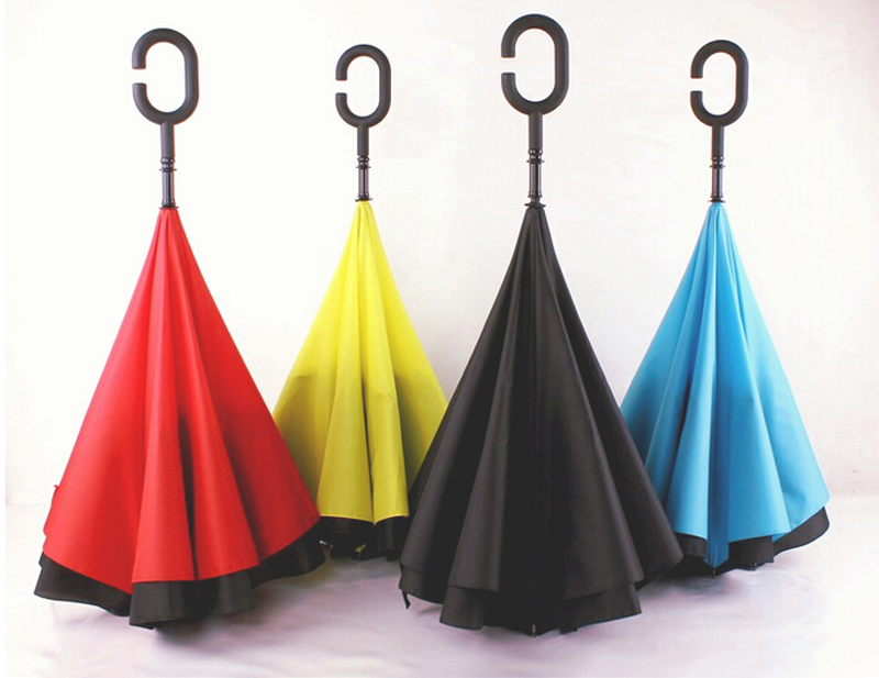 Creative C Handle Upside Down Folding Umbreall Payung Terbalik