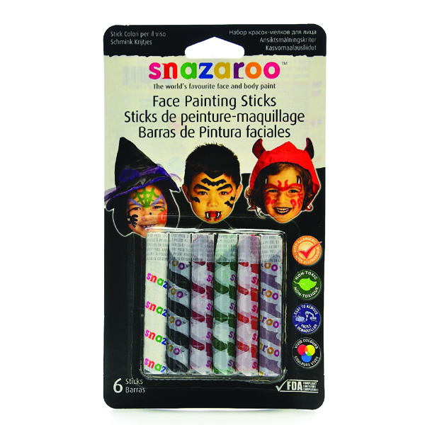 Snazaroo Face Painting Sticks - Halloween Face