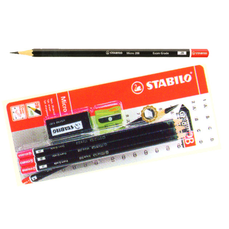Stabilo 6 PC 288 2B Pencil with Eraser & Sharpener (6pcs)