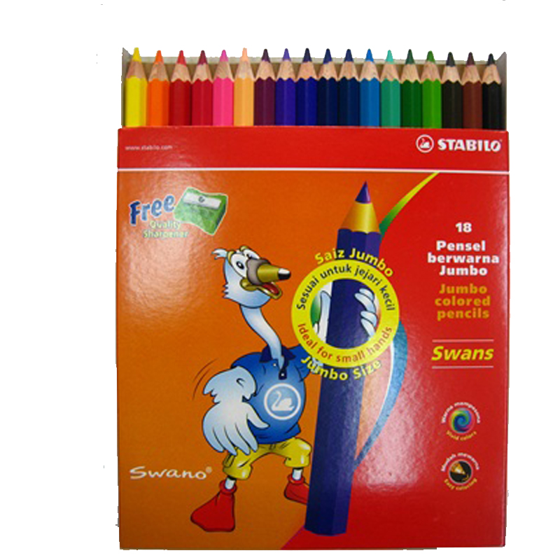 Stabilo 24 Colour Jumbo Colour Pencil 1875J (Long)