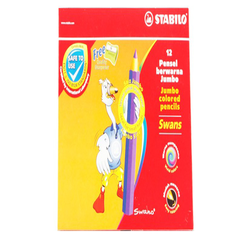 Stabilo 12 Colour Jumbo Colour Pencil 1877J (Long)
