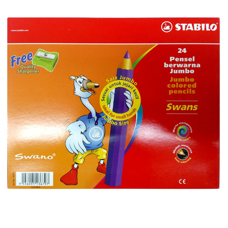 Stabilo 24 Colour Jumbo Colour Pencil 1879J (Long)