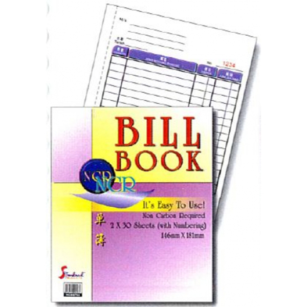 Standard NCB-6702 2x30's NCR Bill Book