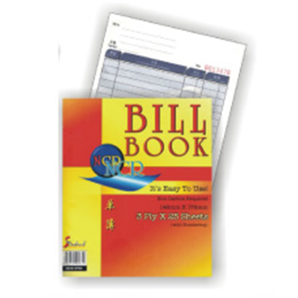 Standard NCB-6703 3 Ply NCR Bill Book 146mmx181mm