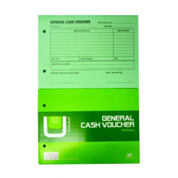 Unicorn B882 General Cash Voucher 100 Sheets