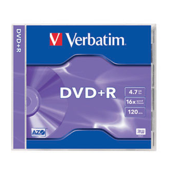 Verbatim AZO DVD+R 4.7GB 16x in Slim Case
